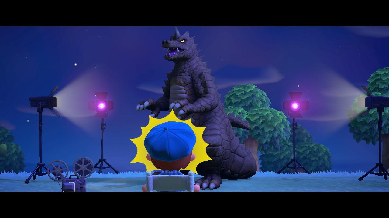 Animal Crossing New Horizon Godzilla