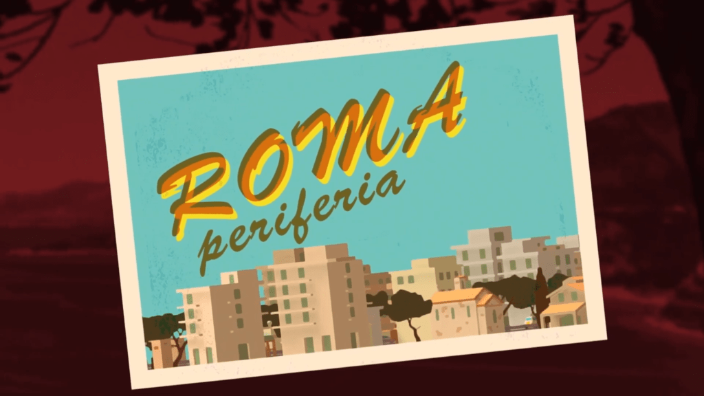 Wheels of Aurelia - Postcard Rome