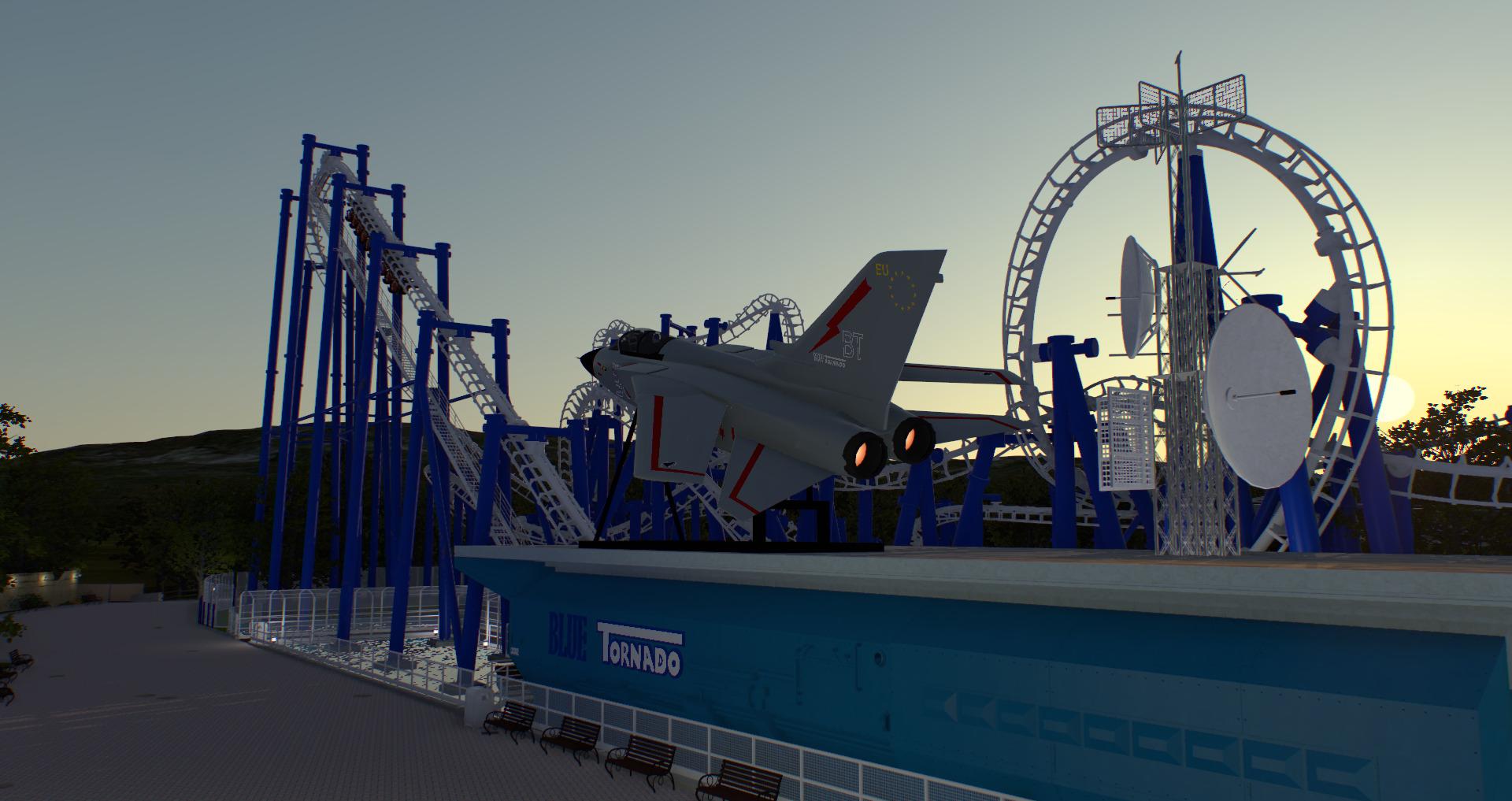Blue Tornado Virtual Gardaland