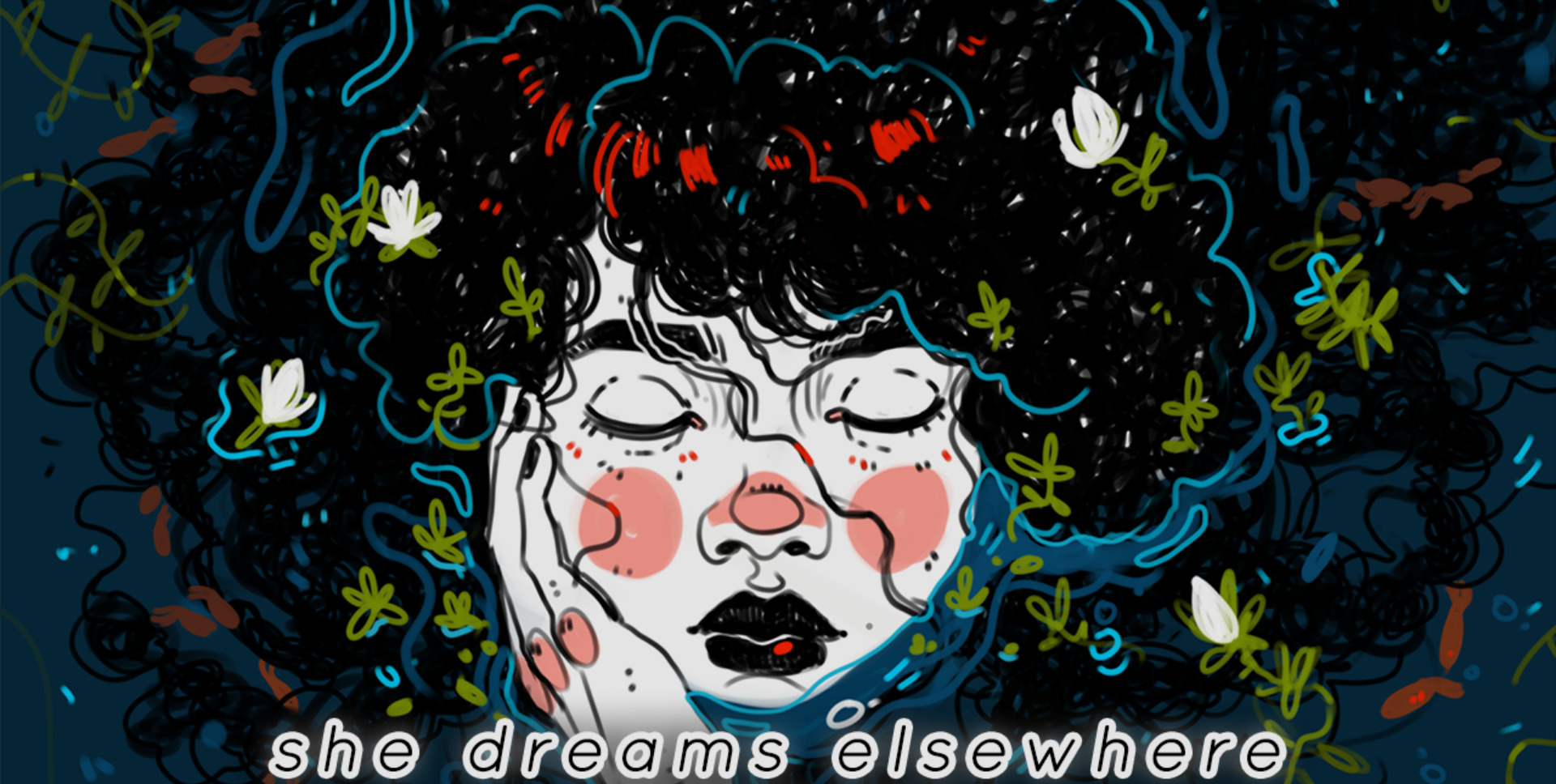She Dreams Elsewhere Artwork Prova demo CineWriting